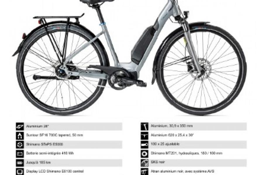 Vélo electrique Gitane E'City Steps 28''