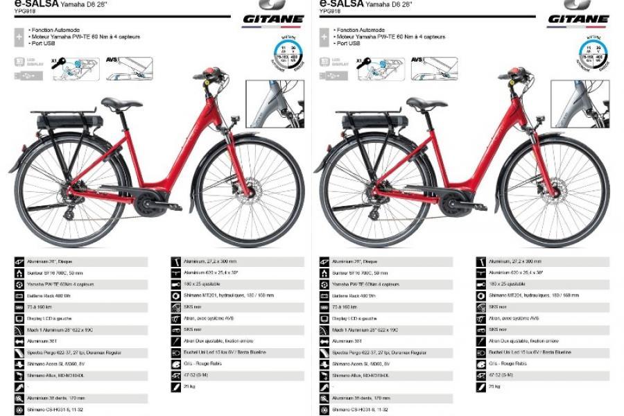 Vélo electrique Gitane E-SALSA YAMAHA D8
