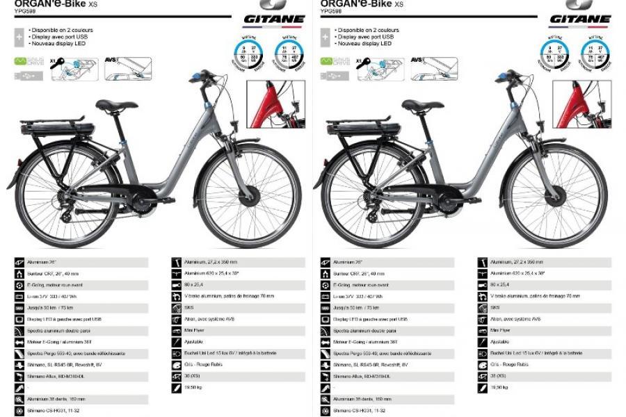 Velo Electrique Gitane  Organ'e'Bike