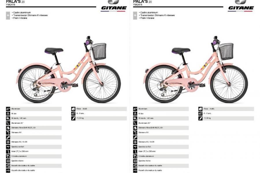 Vélo Gitane 20 '' Pala's